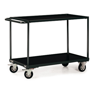 STIER Tischwagen Basic mit 2 Ladeflächen + Schiebegriff Tragkraft 250 kg