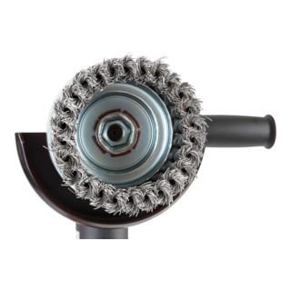 STIER Topfbürste, M14, gezopft, Stahl