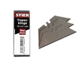 STIER Trapezklinge für Klappmesser 19 x 61 mm, 10er Pack