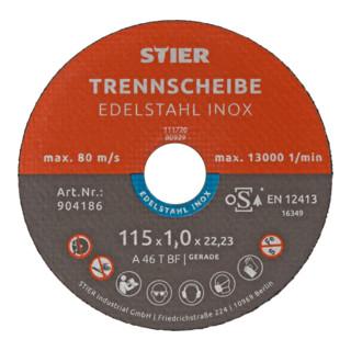 STIER Trennscheibe Inox / Edelstahl