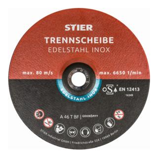 STIER Trennscheibe Inox/Stahl
