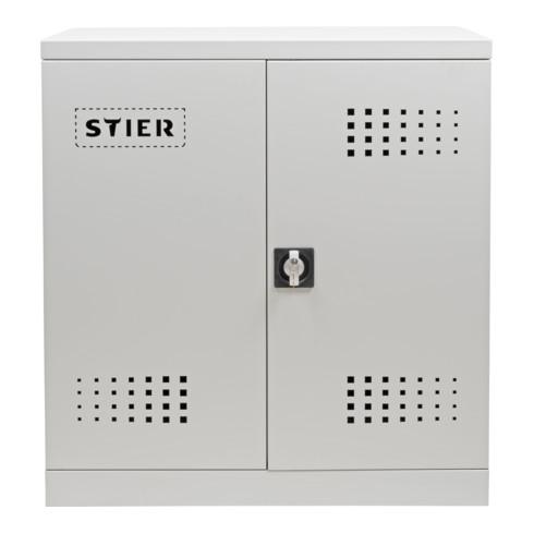 STIER Umwelt-Beistellschrank mit verzinkten Wannenböden 500 mm 2 1000 mm