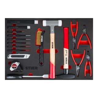 STIER Universal-Werkzeugsatz 18-teilig in Weichschaumeinlage (EVA)