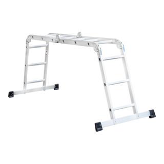 STIER Vielzweckleiter 4x3 Sprossen Tragfähigkeit 150 kg 12 Stufen DIN EN 131