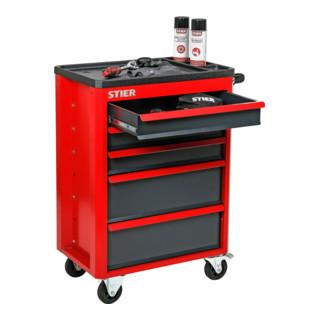 STIER Werkstattwagen Basic+, leer, mit Kunststoffabdeckung