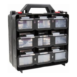 STIER Werkzeugkoffer mit 12 ausziehbaren Behältern, leer
