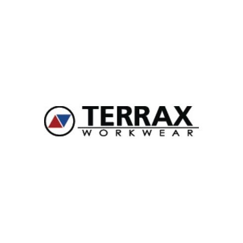 Strickfleecehoody Terrax Workwear Gr.M schwarz melange/limette/orange TERRAX