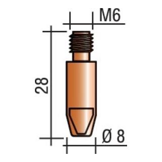 Stromdüse M 6 E-Cu TRAFIMET