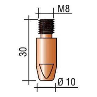 Stromdüse M8, Draht-D.1,2mm L.30mm E-Cu ERGOPLUS 400/500