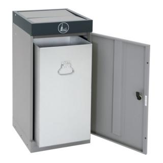 Stumpf Sortssystem ProTec-Plus, graualu/7016, verzinkter Innenbehälter, 70 Liter