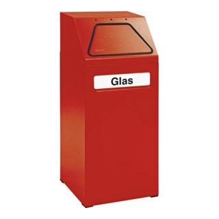 Stumpf Sortsystem 65, RAL 3000/3000, verzinkter Innenbehälter, 65 Liter