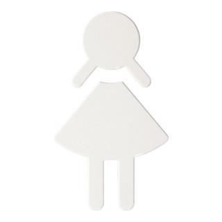 Symbol Damen Polyamid tiefschwarz selbstklebend ohne Zapfen