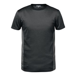 T-shirt fonctionnel VIGO taille L gris foncé/gris clair 100 % PES Feldtmann