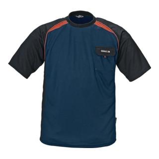 T-Shirt Gr.XXL marine/schwarz/rot 50 % PES/50 % Cool Dry