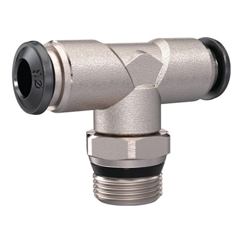 T-Steckverschraubung universal short AG 1/2 Zoll SW 21mm drehb.kon.10mm RIEGLER