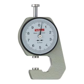 Taschendickenmessgerät K 15 0-10mm Abl. 0,1mm plan 6,35mm Käfer