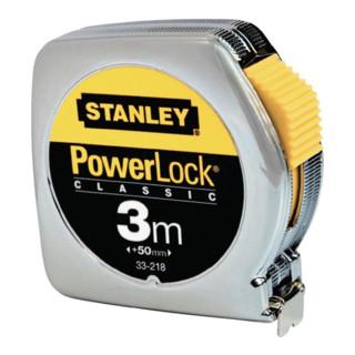Taschenrollbandmaß PowerLock L.3m verchr. KU.-Gehäuse Stanley