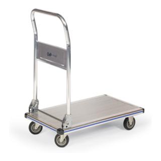 Taurotrade Aluminium-Plattformwagen 150kg Klappbarer Schiebegriff Aluminium