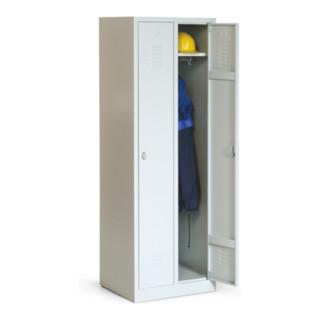 Taurotrade Kleiderschrank Serie ECO auf Sockel 2 Abteile Lichtgrau