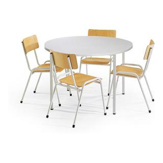 Taurotrade Tisch Stuhl Kombination Eco Rundtisch ø1000mm 4 X