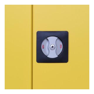 Taurotrade Umweltschrank zweitürig 1950x920 mm mit4 Wannenböden 50 mm hoch Tür RAL1021