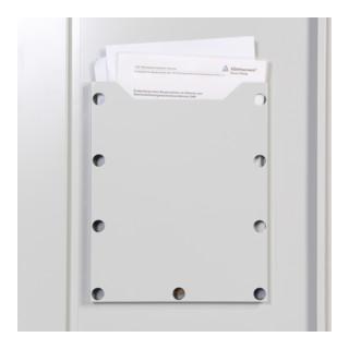 Taurotrade Umweltschrank zweitürig 1950x920 mm mit4 Wannenböden 50 mm hoch Tür RAL7035