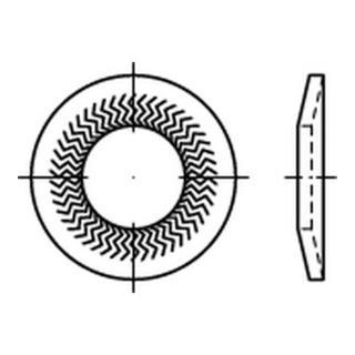 Teckentrup Sperrzahnscheibe für normale Kopfauflagen