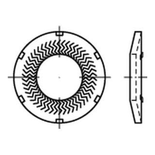 Teckentrup-Sperrkantscheiben m. Kz. C 60 flZnnc SKK 5 flZnnc K