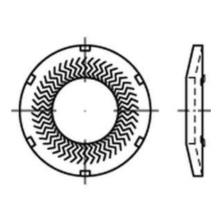 Teckentrup-Sperrkantscheiben m. Kz. C 60 flZnnc SKK 6 flZnnc S