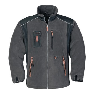 Terrax Fleecejacke dunkelgrau/schwarz/orange