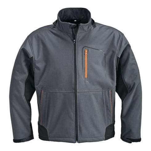 Terrax Softshelljacke dunkelgrau/schwarz/orange