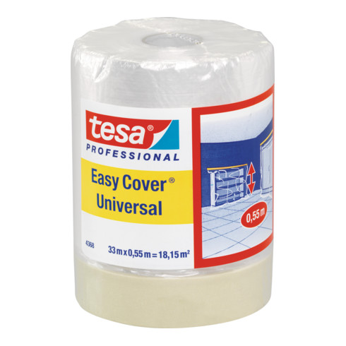 tesa Easy Cover® Universal Folie 4368 33m x 550mm matt hellbeige