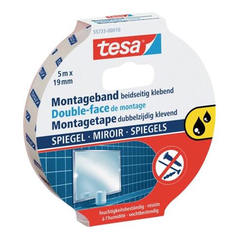 tesa® 55733 POWERBOND doppelseitiges Montageband 5 m × 19 mm weiß