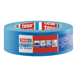 tesa® Präzisionskrepp Außen PLUS 4440 Länge 50 m blau