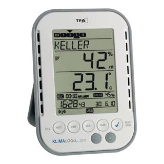 Thermo-Hygrometer f.innen Messbereich 0-50GradC/Luft 1-99% Ku.m. PC Interface