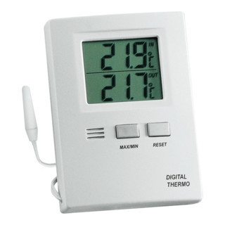 Thermometer elektronisch Max./Min.umstellbar Grad C/Grad F Ku.weiß H85xB60xT15mm