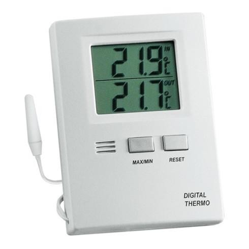 Thermometer Messber.auß.-50 b.70GradC/in.-10 b.60GradC H85xB60xT15mm Ku.