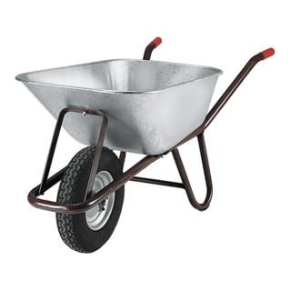 Tiefmuldenkarre Inhalt 90l auf Stahlfelge Bereifung Luftrad 400 x 100 mm