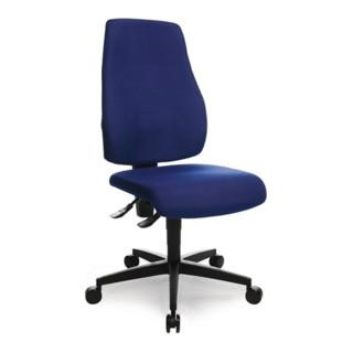 Topstar Bürodrehstuhl royalblau Lehnen-H.580 Sitz-H.420-550 Permanent ohne Armlehnen