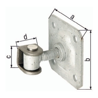 Gustav Alberts Torband mit U-Bügel verstellbar mit Platte