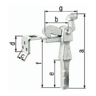 Torfeststeller Grauguss verz.52mm 6,5mm GAH