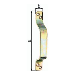 Torgriff 190x25mm Stahl roh galv. gelb verz. GAH