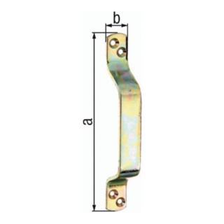 Torgriff L.170mm B.20mm STA galv.gelb verz.Anz.Löcher 4 GAH