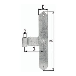 Tormittelband 400x60x120mm STA galv.gelb verz.8mm GAH