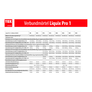 TOX Verbundmörtel Liquix Pro 1 styrolfrei 280 ml