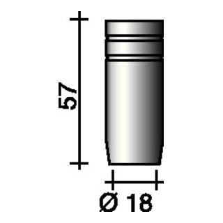 Trafimet Gasdüse zylindrisch für ERGOPLUS