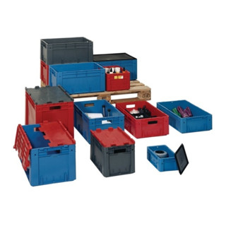 Transportstapelbehälter rot L400xB300xH210mm Sc...