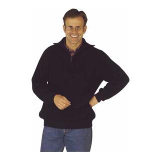 Elutex Troyer-Pullover mit Reißverschlusskragen marine