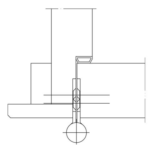 Türband Q1 DIN re.Band-L.140mm Oberfläche verzinktfür stumpf einschlagende Türen