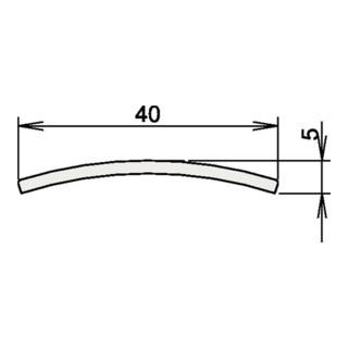 Türdichtung Niroschwelle Nr. 3-107 Länge Edelstahl matt gebürstet